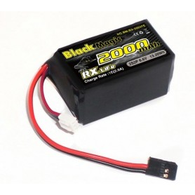 BlackMagic LiFe RX Hump 2000mAh 2S 6,6V