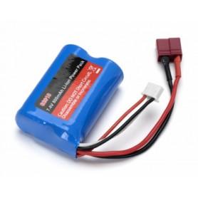 Li-ion Batteri 2S 7,4V  800mAh T-kontakt
