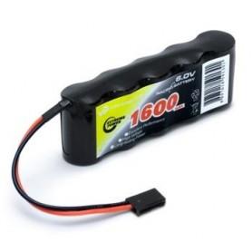 Mottagarbatteri NiMH 6,0V 1600mAh Rak